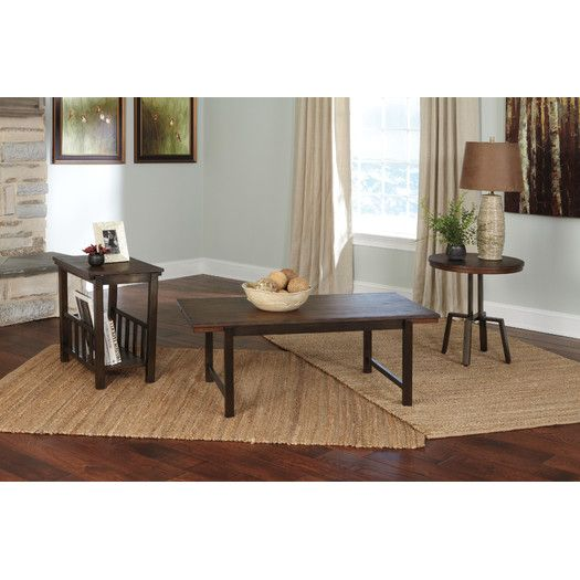 Signature Design By Ashley Riggerton Coffee Table Set Coffee Table Coffee Table Setting