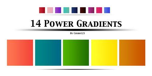 11.photoshop gradients