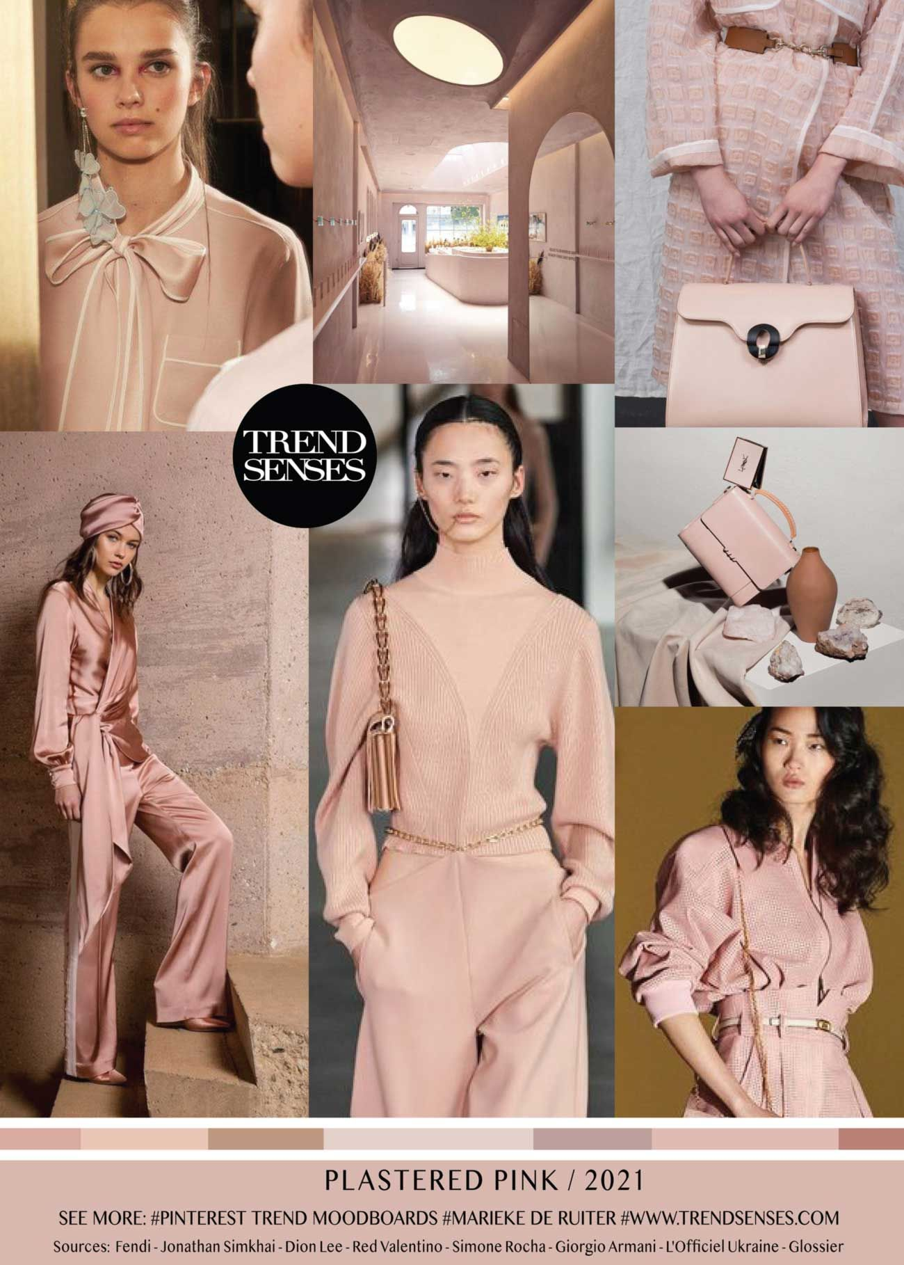 Trendmoodboards – Trendsenses  Fashion trending moodboard, Color