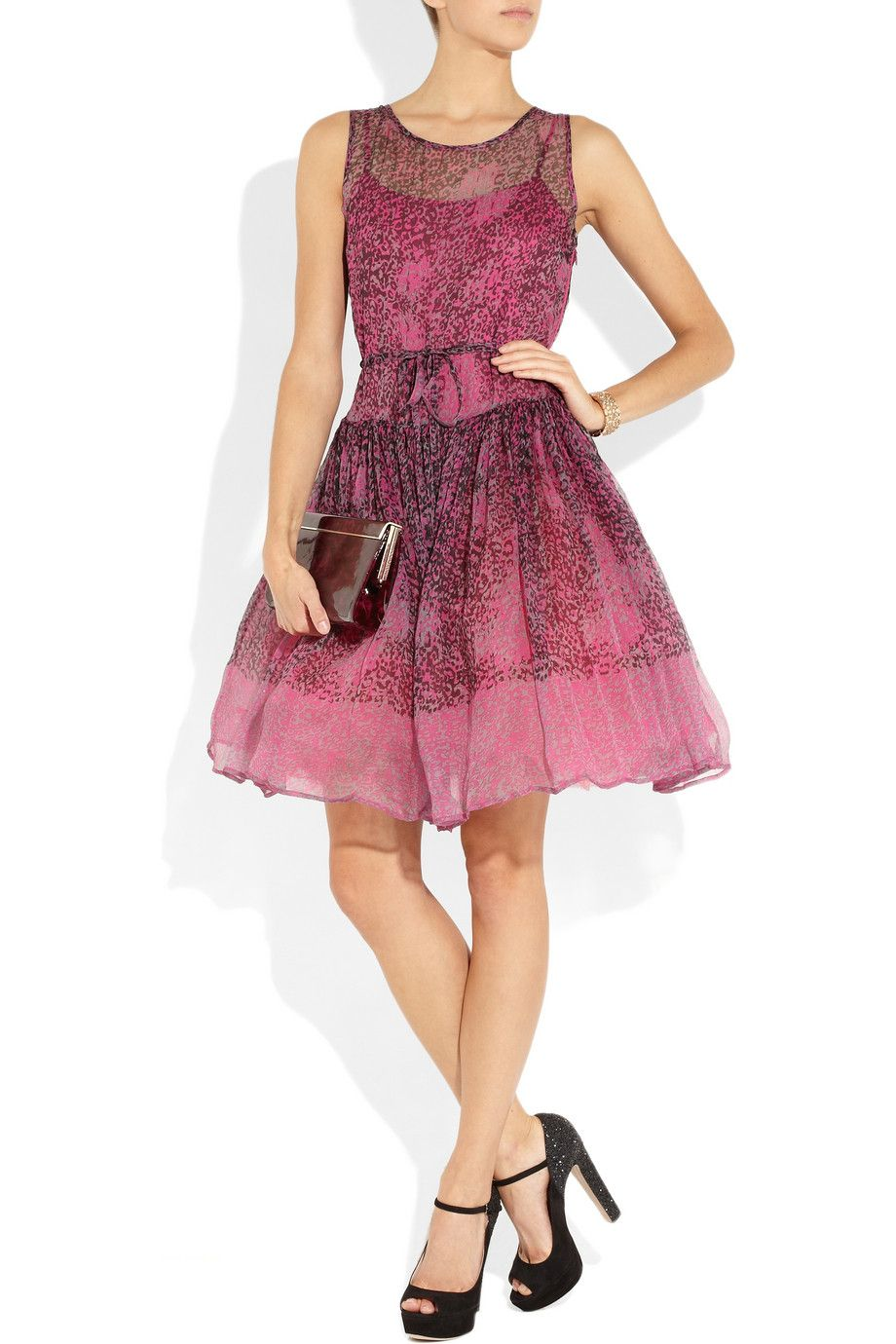 Another great dress! RED Valentino | Animal-print silk-chiffon dress ...