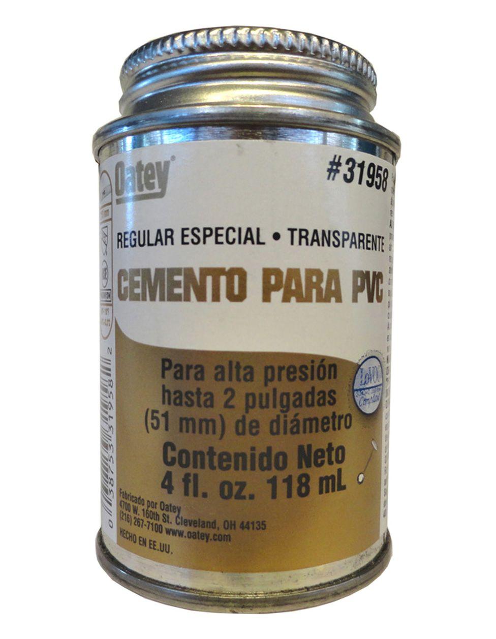 Pegamento oatey regular dorado 118 ml para tuber as de for Productos para desatascar tuberias