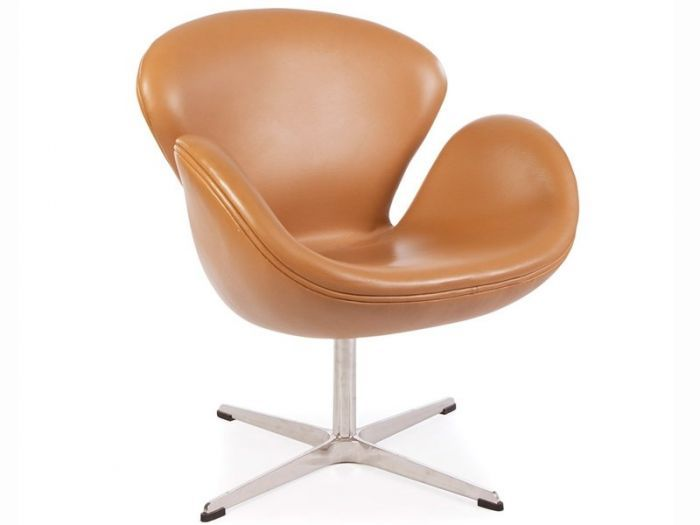 Excellent Arne Jacobsen Swan Chair In Tan Leather Furniture Evergreenethics Interior Chair Design Evergreenethicsorg