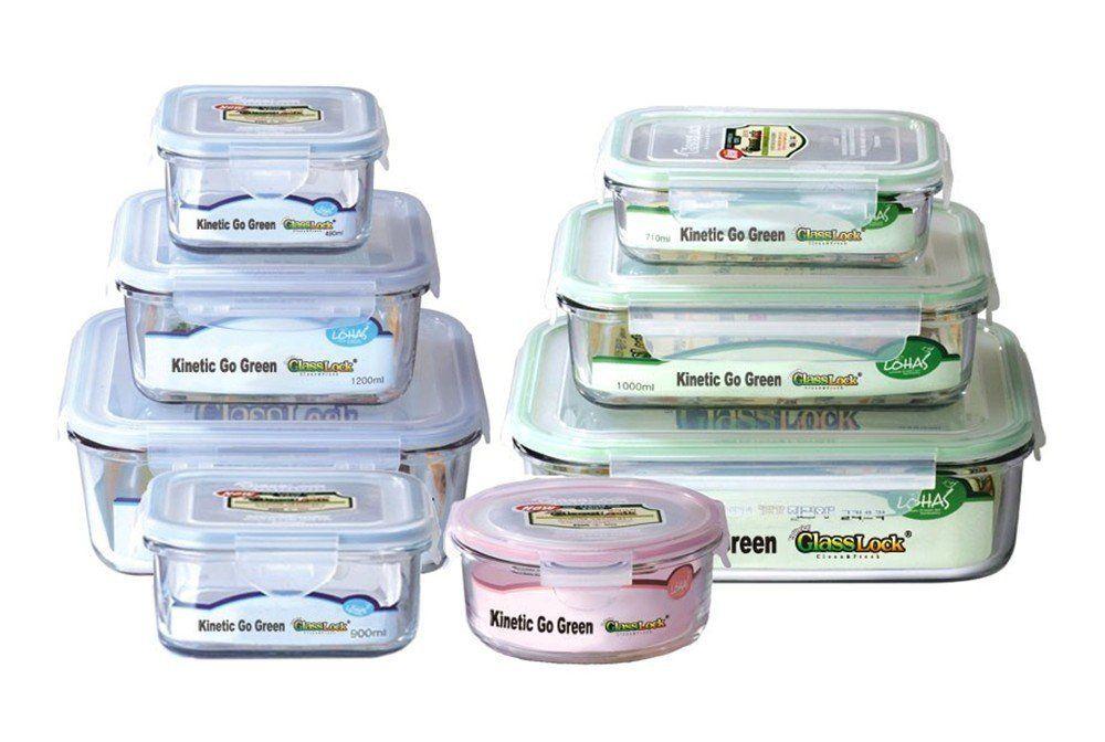 Amazon Com Kinetic Go Green Glasslock Food Storage Container Set