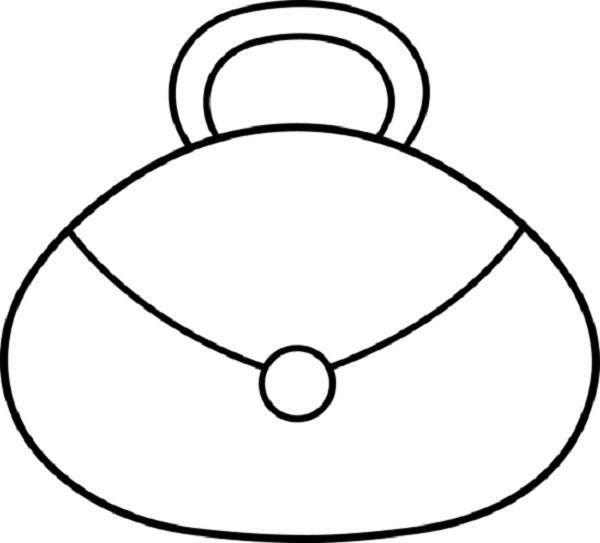 purse coloring page | free purse coloring pages: free ...