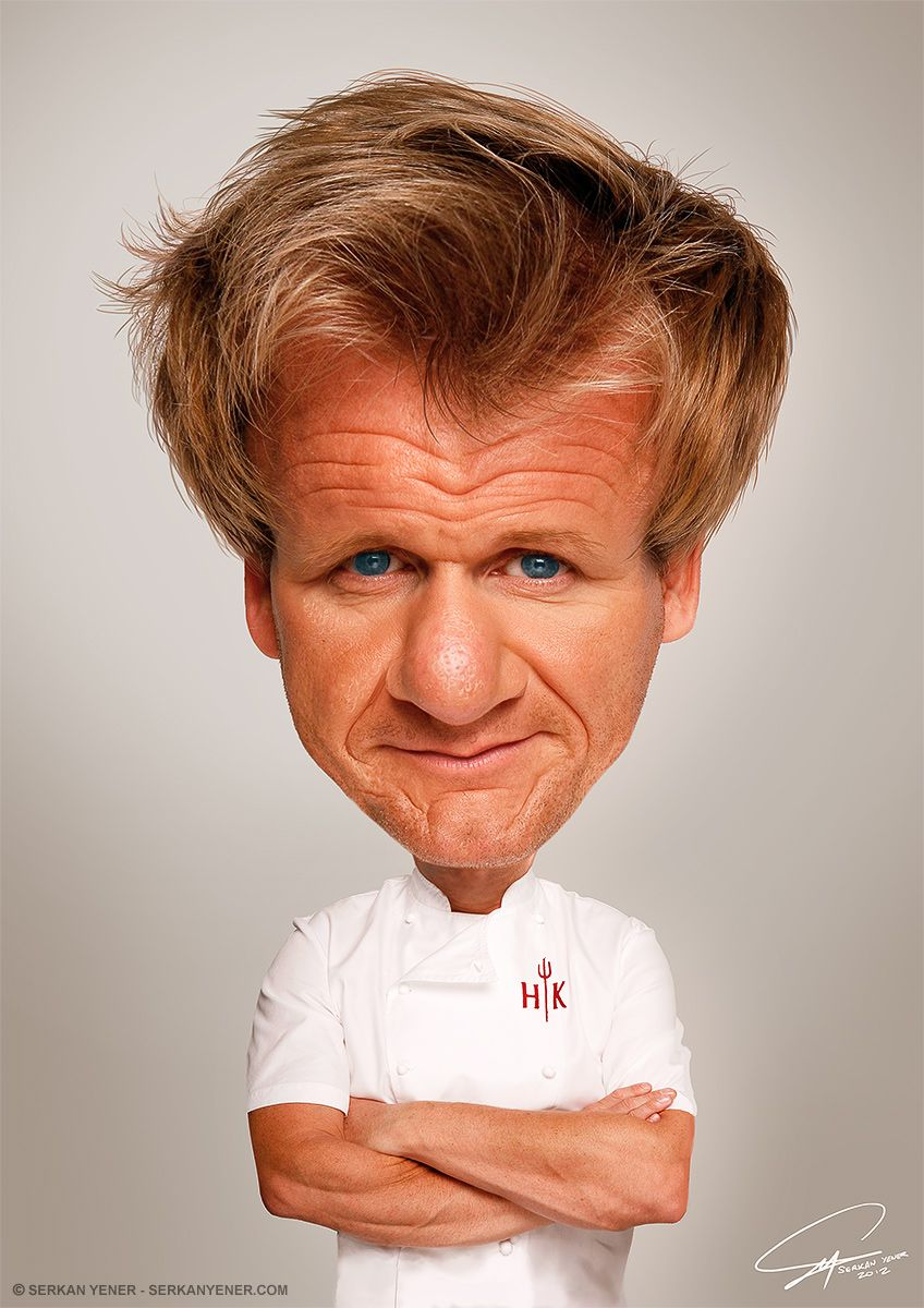 Caricature of Chef Ramsy | Photo Caricature of Gordon Ramsay ...