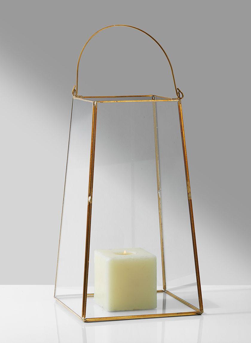 Gold Trapezoid Lantern In 2020 Wholesale Lanterns Wedding