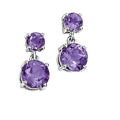 Debenhams Purple Earrings Amethyst Jewelry Yellow Gold Jewelry