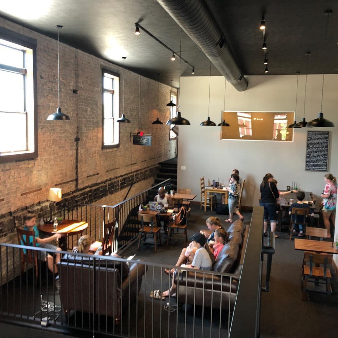 Main Street Roasters Coffee House Cafe Loft Coffee Shop Industrial Nappanee Indiana Library Coffee House Main Street Roasters Nappanee Study Space Lof