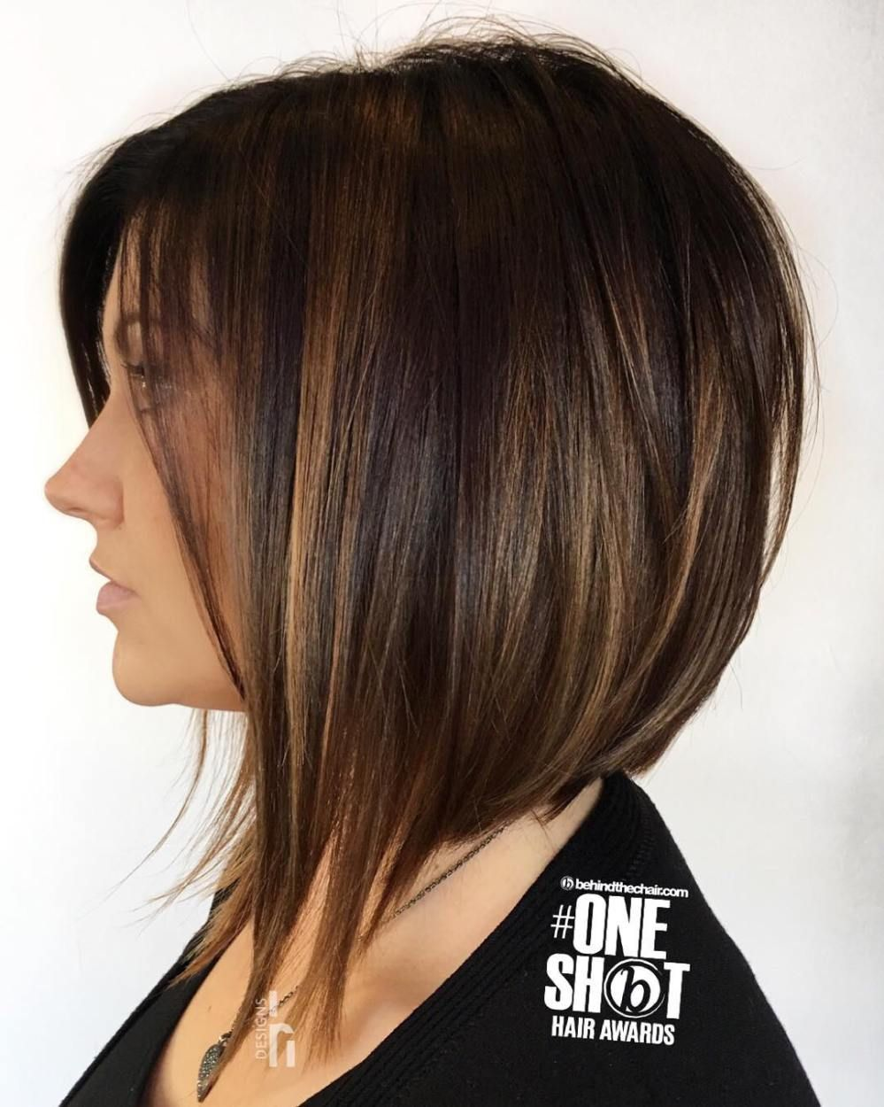60 Hairstyles Featuring Dark Brown Hair With Highlights Bob