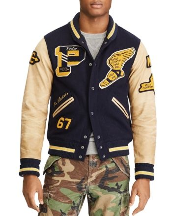 Polo Ralph Lauren Vintage Varsity Letterman Jacket Bloomingdale S Varsity Letterman Jackets Varsity Jacket Outfit Mens Jackets