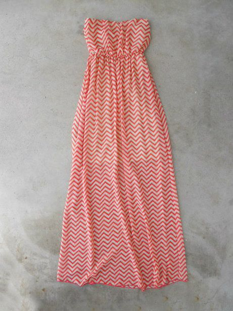 Coral Chevron Maxi [5150] - $43.00 : Vintage Inspired Clothing & Affordable Dresses, deloom   Modern. Vintage. Crafted. on Wanelo