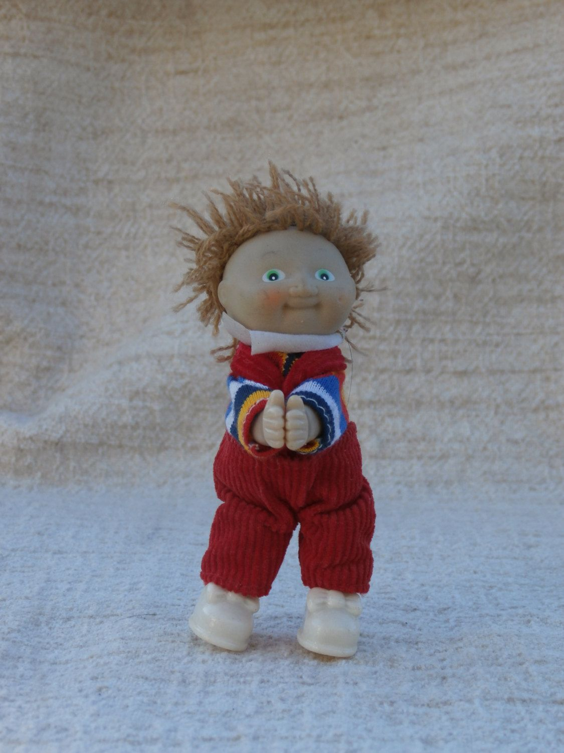 1980s Era Cabbage Patch Kids Doll Clip On Toy Figure Brown Etsy Cabbage Patch Kids Cabbage Patch Kids Dolls Cabbage Patch