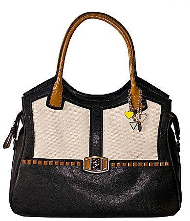 Guess Pembrook Caryall Tote Bag Black Multi Dillards