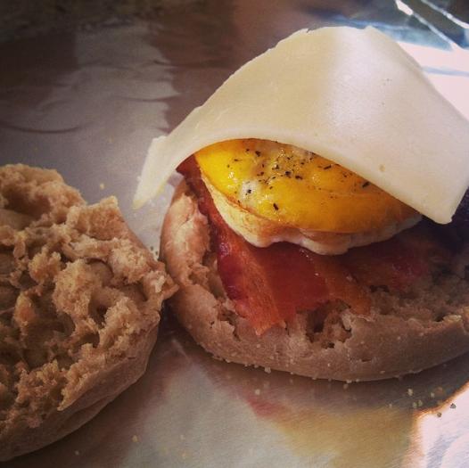 freezer breakfast sandwich from Bran Appetit