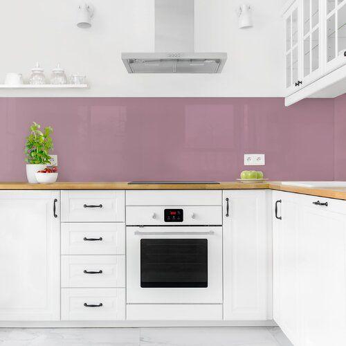 Ebern Designs Hart-Kunststofffolie Spritzschutzpaneel Selbstklebend Malve Balhi | Wayfair.de #kitchensplashbacks