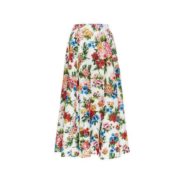 Emilia Wickstead Eleanor Skirt (7 250 PLN) ❤ liked on Polyvore featuring skirts, flower print skirt, floral print skirt, floral vintage skirt, a line skirt and vintage skirts