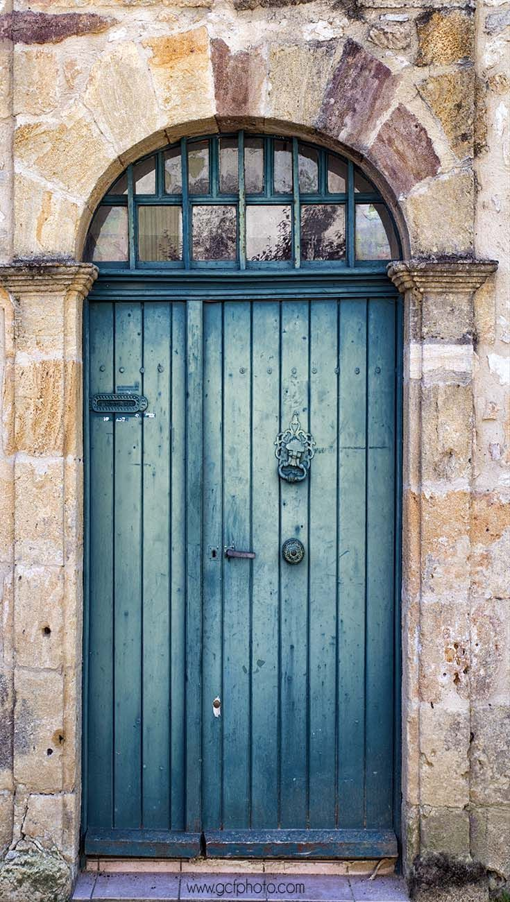 Teal wall art decor french blue door door photography europe wall