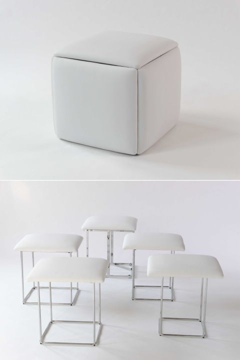 Smart space saving accessories that do double duty for Space saving seating