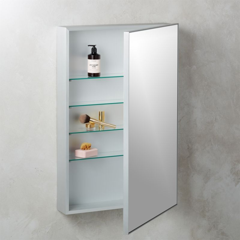 Infinity Silver Medicine Cabinet 24 X36 In 2020 Glass Shelves