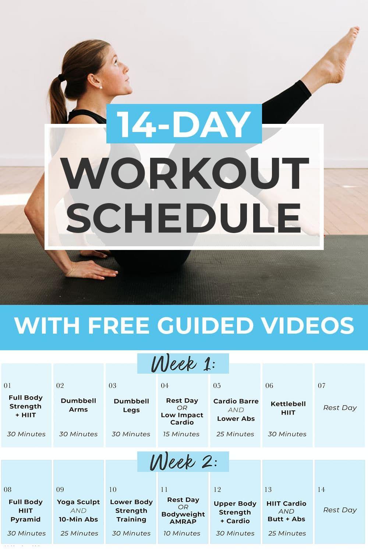 14 Day Challenge 2 Week Workout Plan Nourish Move Love Weekly Workout Plans Full Body Workout Plan 2 Week Workout Plan