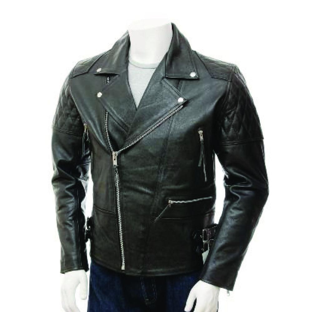 Men Fashion Slim Black Leather Jacket Best leather