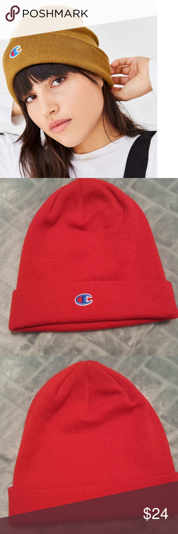 e0bfd3abace3f URBAN OUTFITTERS CHAMPION BEANIE HAT OSFM NEW!!! Unisex hat. Red champion  beanie from UO. Champion Accessories Hats
