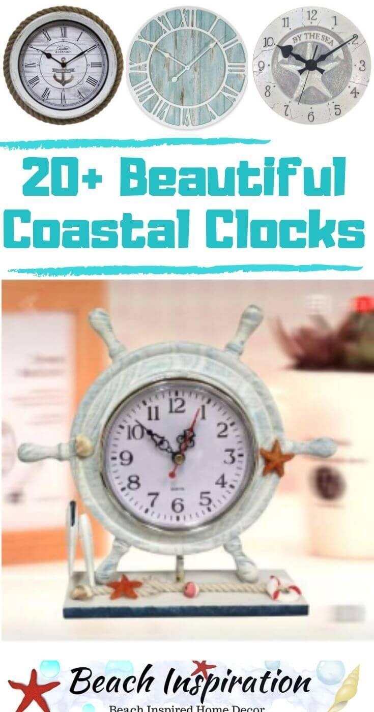 Photo of 20+ Nautical Themed Coastal and Beach Clocks