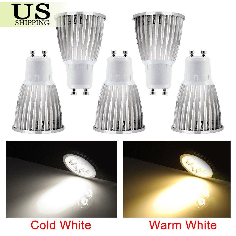 5 Pack Gu10 Cob Led Bulbs Non Dimmable Lamp 6w 9w 12w Spotlight Spot Light Bulb Ebay Dimmable Lamp Led Bulb Bulb