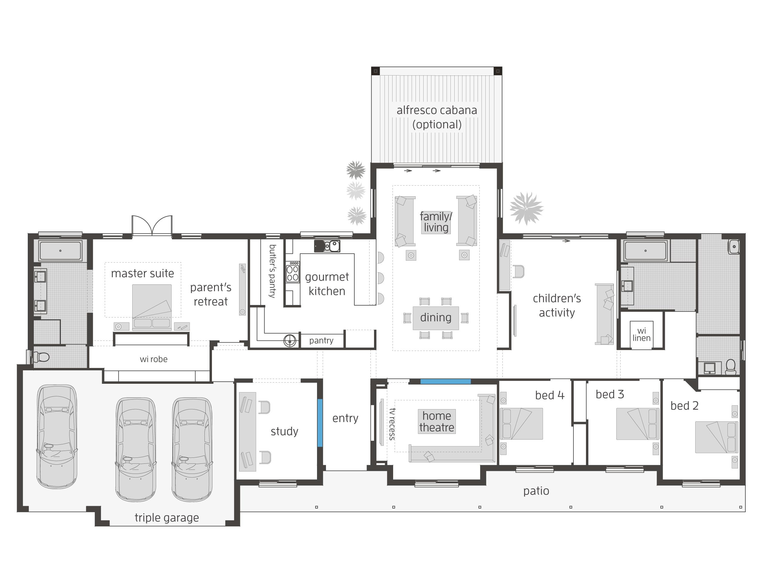 Bronte Executive Lodge floor plan | Homedecor | Pinterest | House ...