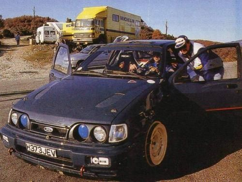 Francois Delecour Ford Sierra Cosworth Ford Sierra Ford Rs