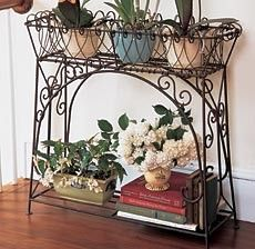 Wholesale Four Tier Metal Plant Stand Black Wrought Iron Plant