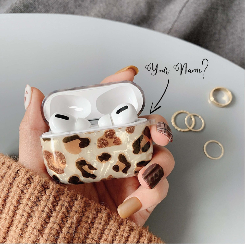 Luxury Marble Leopard Airpods Case Custom Glitter Apple Etsy In 2021 Case Airpod Case Beautiful Iphone Case