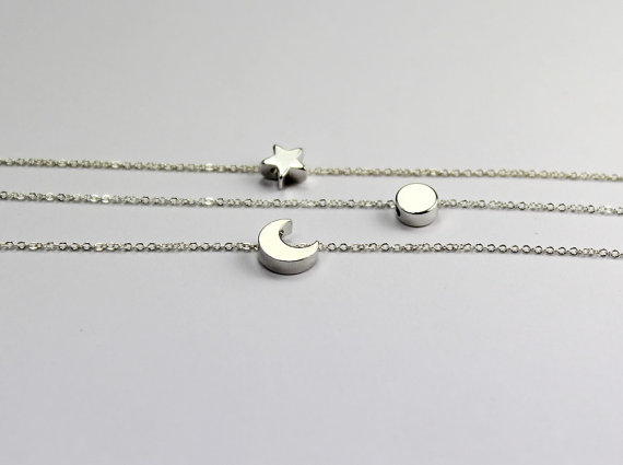 Three Best Friends Jewelry Sun Moon Star Bracelet Set 3 Gift For Sisters Aunts Necklace Graduation Family