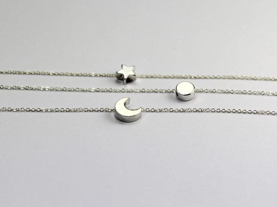 Three Best Friends Jewelry Sun Moon Star Bracelet By Elsejewelry