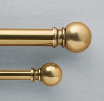 Ball Antique Brass Window Hardware Traditional Curtain Poles