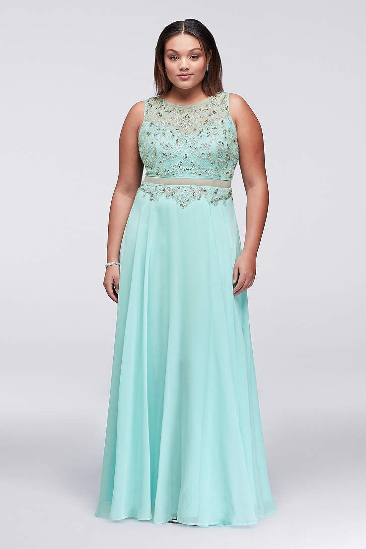 Find plus size prom dresses at David\'s Bridal! Our collection ...