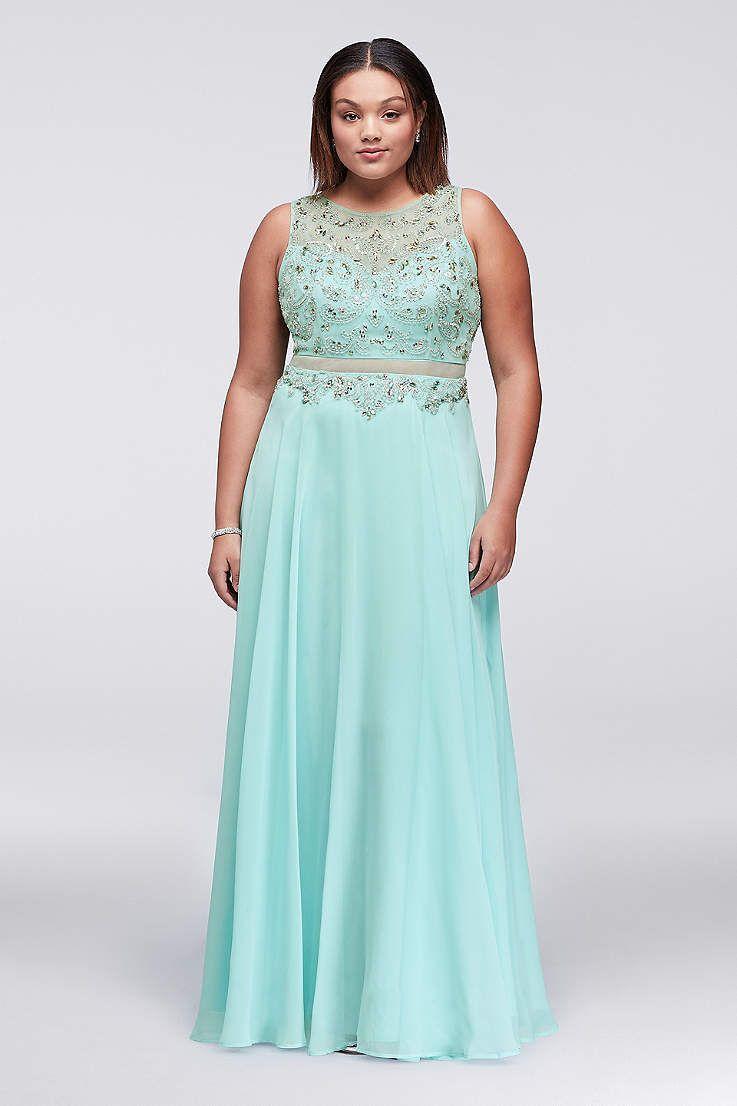 Amazing David Bridal Plus Size Prom Dresses Gallery - Wedding ...