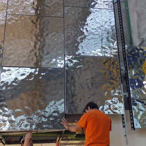 Installation Of Wall Panels Of Product Line Exyd M Photo Exyd