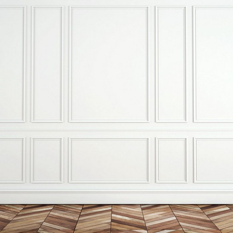 1194 white panel wall parkay floor white paneling on wall trim id=14014