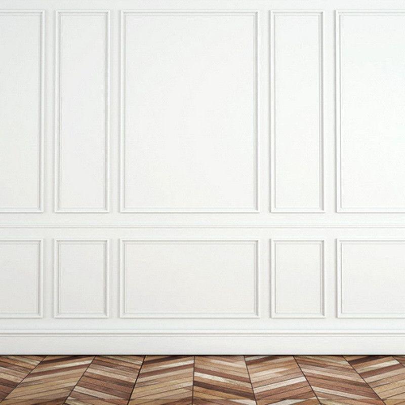 White Panel Wall & Parkay Floor   DIY   Pinterest   Wall ...