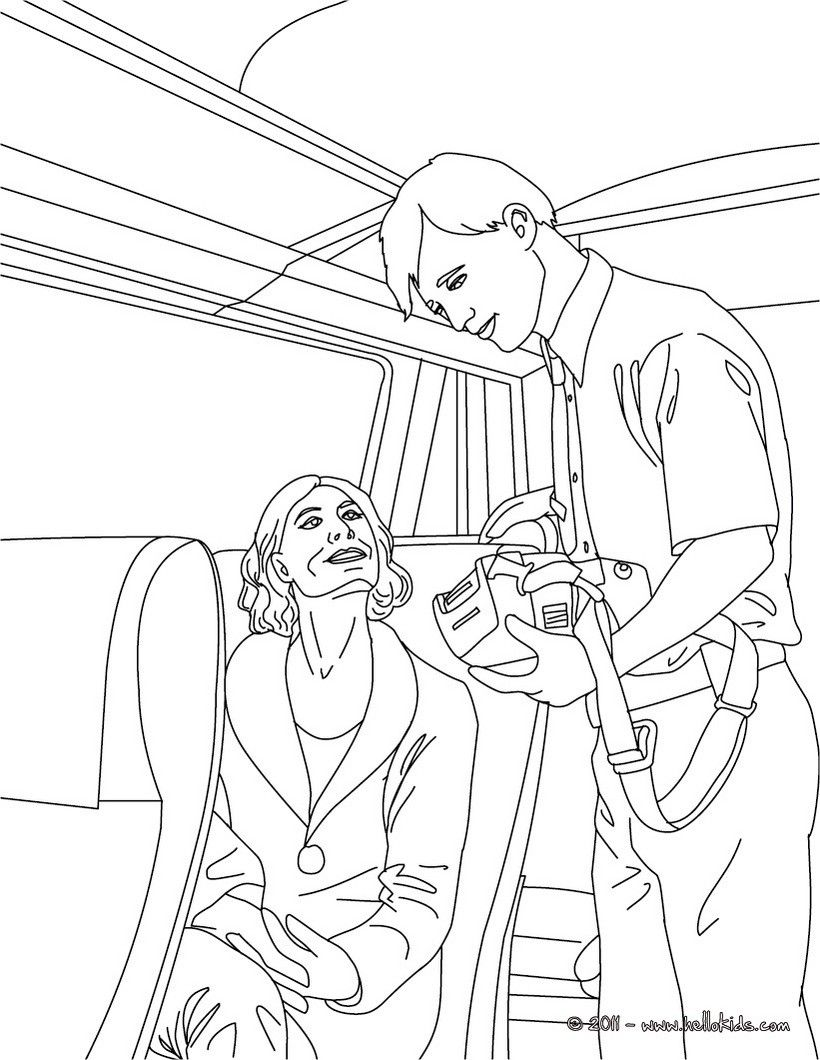 Train Inspector In Coloring Sheets Section Check It Out In Train Station Jobs Coloring Pages Coloring Pages Colouring Pages Color