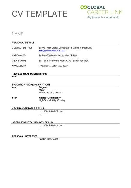 blank resume templates for download