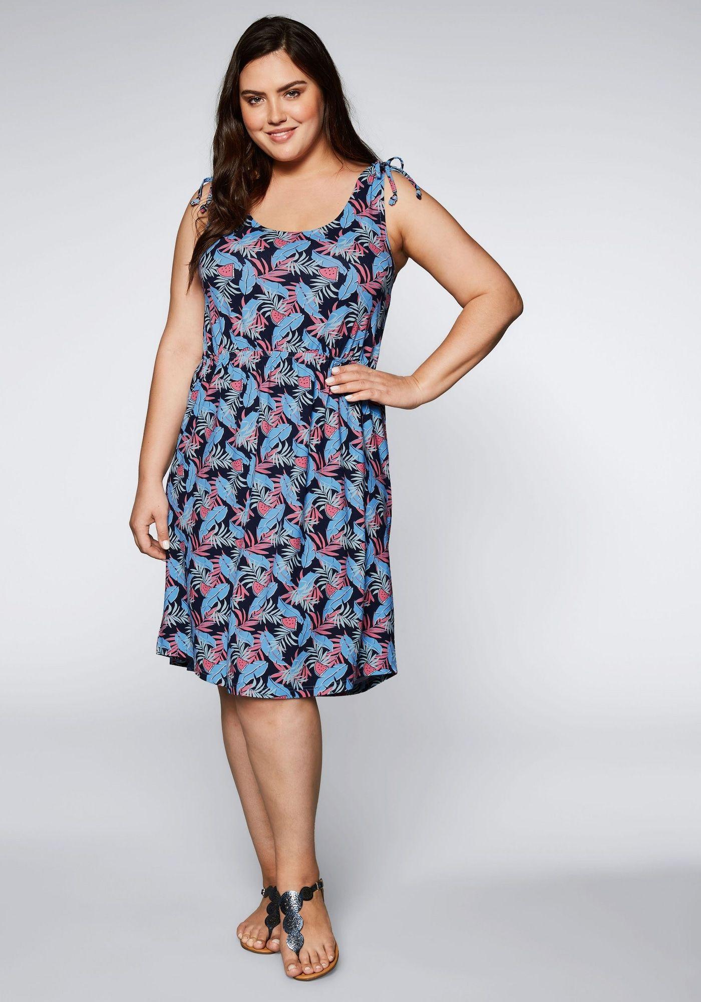 SHEEGO Sommerkleid Damen, bunt, Größe 20  Sommerkleid, Kleider