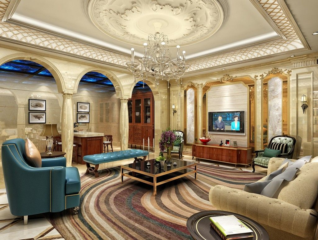 majestic strong pillar with great ceiling design in luxury