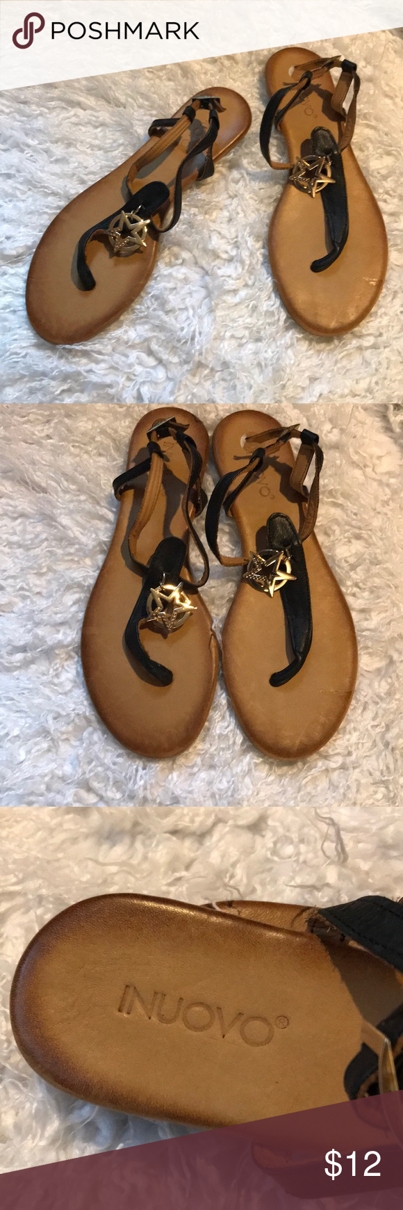 huge discount 9c9e3 183d7 Anthropologie Inuovo sandals. NWOT. Size 39/8 Very cute ...