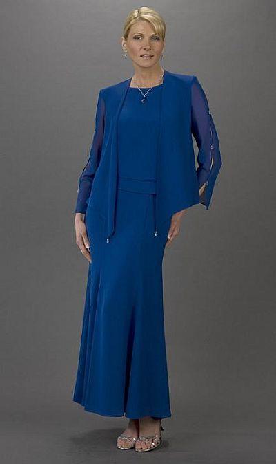 Plus Size Mother of the Bride Dresses Ursula Long Jacket Dress ...
