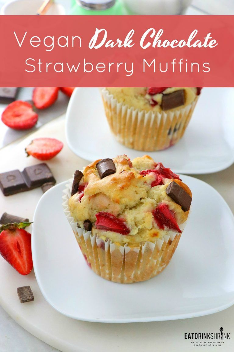 Vegan Dark Chocolate Strawberry Muffins Recipe Strawberry
