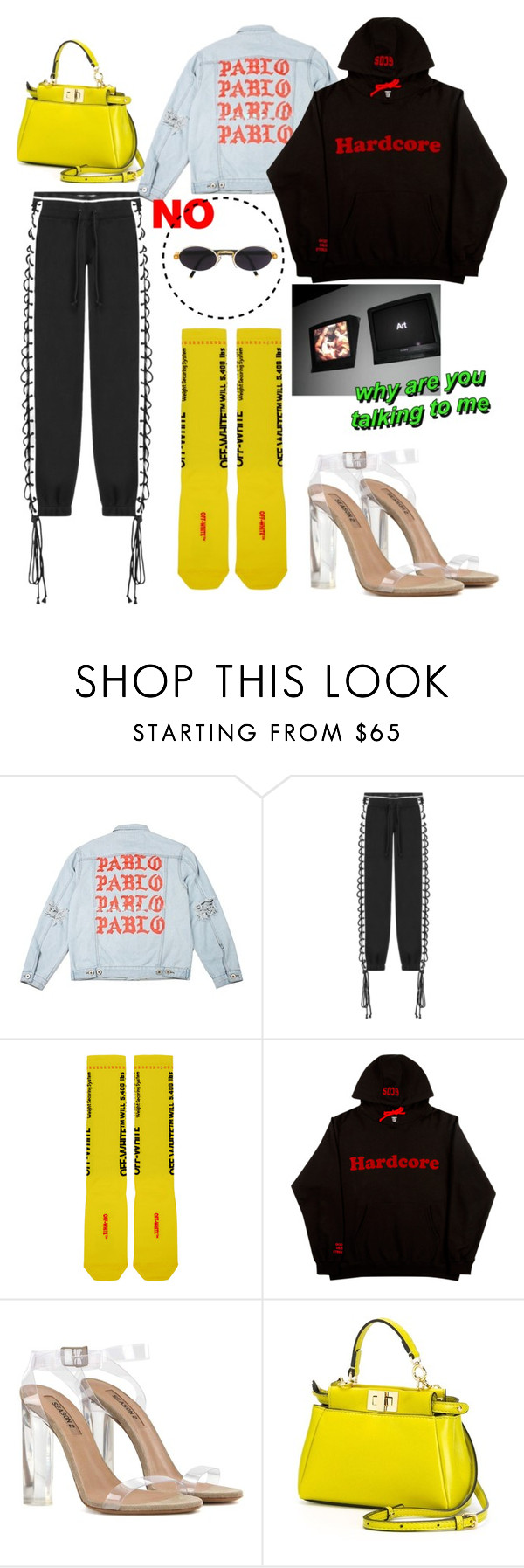 """Pablo's fashion"" by ekalmansouri on Polyvore featuring Puma, Off-White, adidas Originals, Fendi and Gianfranco Ferré"