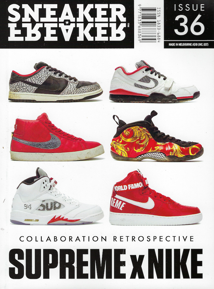 Sneaker Freaker Magazine Issue   36 Supreme x Nike   SNEAKER FREAKER ... c760d9486a36