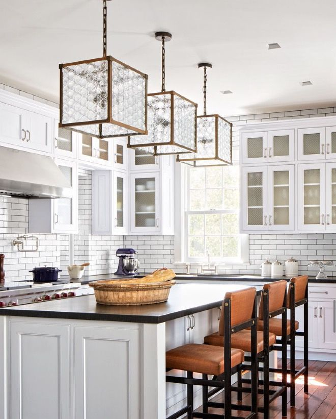 Beautiful White Kitchen  Lanternsremains Stoolsthomas Simple Kitchen Lanterns Design Ideas